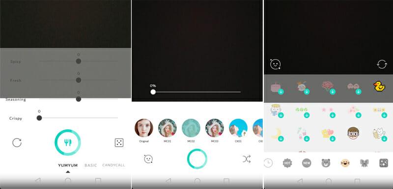 Candy Camera Selfie app