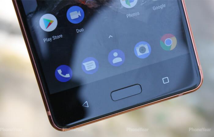 Nokia 8 fingerprint scanner