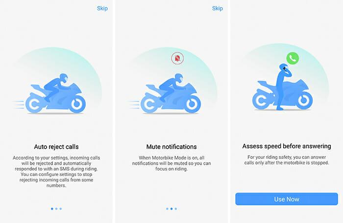 Motorbike Mode in Funtouch