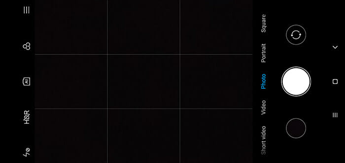 Xiaomi Redmi Note 6 Pro camera interface