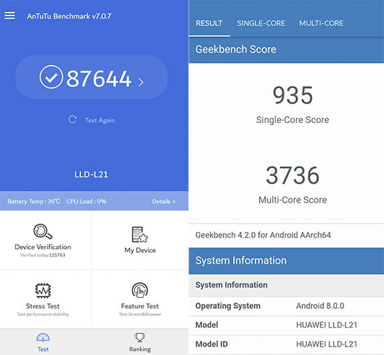 Honor 9 Lite Benchmarks