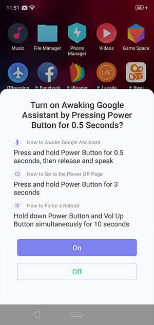 Google Assistance Setup on Realme 3