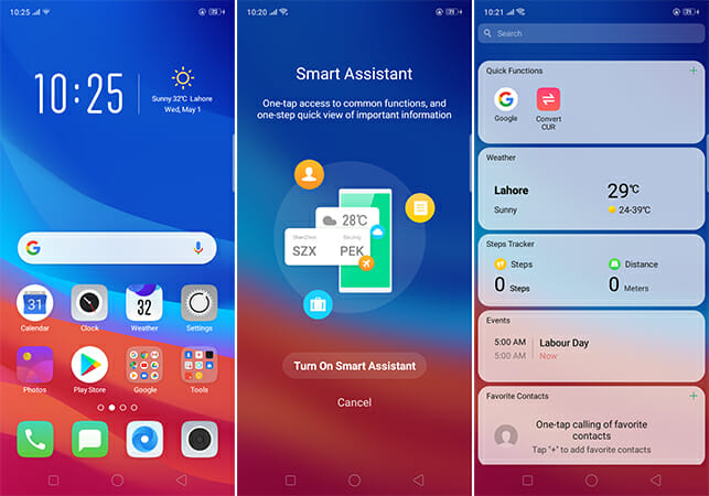 OPPO A3s Smart Assistant