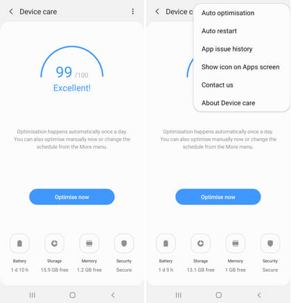 Samsung Device Care Galaxy A20