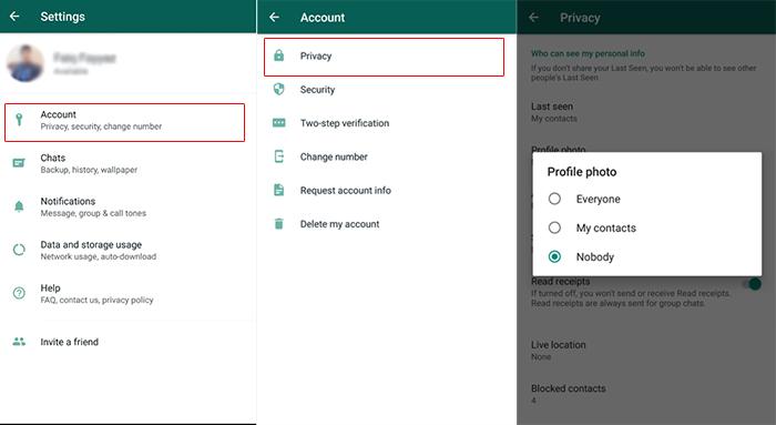 WhatsApp Profile Photo Privacy