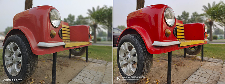 Car shape bench in Bahira Town Lahore