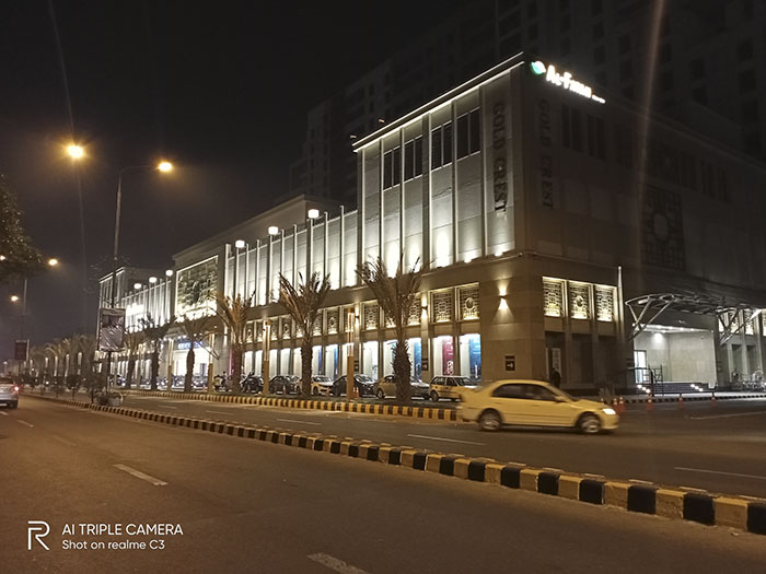 Gold Crest Mall DHA at night Standard Mode