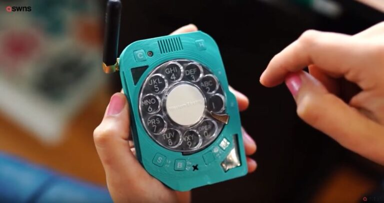 rotary dial mobile phone