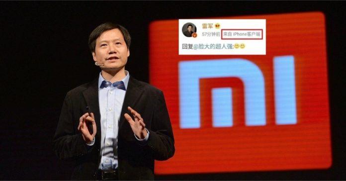 Xiaomi CEO using iPhone